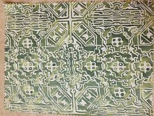 Fortuny fabric - Moresco, Green and warm white