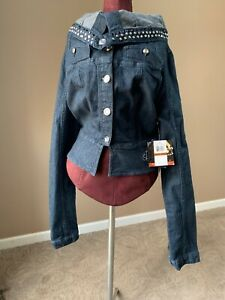 Jean Jacket By Dereon  - Very Unique! List Price $99 Size L NWT