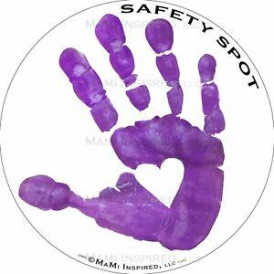 Safety Spot ™ MAGNET - Kids Handprint for Car Parking Safety - WHITE Background