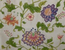 Gorgeous Vintage French Chinoiserie Tree of Life Floral Cotton Fabric ~