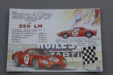 HD Miniatures château Carte postal FERRARI 250 LM N°21 collector 1/43 Heco