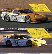Decals Corvette C5R Le Mans 2000 1:32 1:24 1:43 1:18 C5 slot Chevrolet calcas