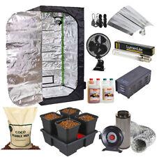 Premium Self Watering 1.2mx1.2m Hydroponic Tent Kit Canna Wilma Grow Light Coco