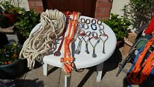 ROCK CLIMBING, MOUNTAINEERING, NUTS, SLINGS, ROPE, BELT AND CARABINER CLIPS