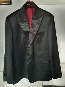 Herren Sakko Blazer Gehrock Gr.58 60? schwarz glanz luxus gebraucht 2 Stück
