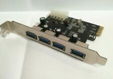 ADAPTER USB 3.0 x4  PCIe CARD HIGH PROFILE TESTED WARRANTY