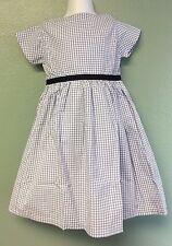 Olive Juice Sweet Gingham blue white little girls dress 4 Spring summer