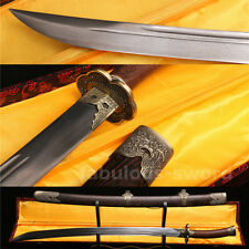 "38"" FOLDED STEEL BLADE SHARP FULL TANG BLADE CHINESE QING SWORD(清刀)"