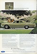 1967 Lincoln Continental two-door Green Coupe PRINT AD