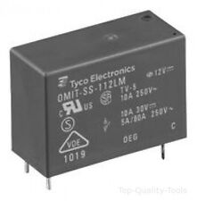RELAY, PCB, SPST-NO, 12VDC, 10A Part # TE CONNECTIVITY / OEG OMIT-SS-112LM,000