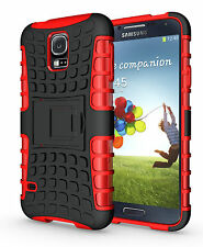 Red Case Cover Stand for Samsung Galaxy S5 Heavy Duty Strong Durable Tough