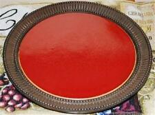 Lovely Party Lite Light MOROCCAN SPICE Round Ceramic Candle Serving Platter Tray