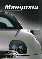 QVALE MANGUSTA 2000 Original Multilanguage sales brochure V8 Targa Coupe Cabrio