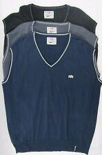 Sleeveless Sweater Cricket Sports Slipover Plain V Neck Heavy Wool Free Shipping