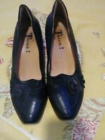 Think! black  leather slip-ons  Size 9- 9. 5 Size EUR 40 Made in Italy