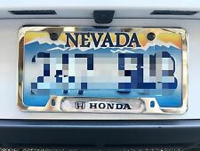 Chrome License Plate Frame HONDA Civic Accord S2000 Integra Fit Jazz Pilot HRV