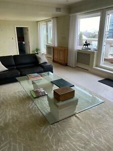 Large piece of glass for dining or coffee table top
