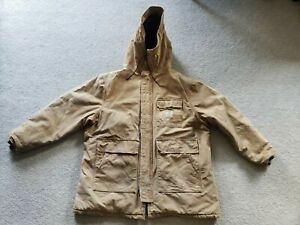 Men's CARHARTT Brown Insulated Work Hoodie Jacket - Size X Large ?? READ