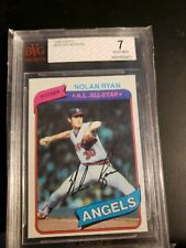 1980 Topps Nolan Ryan California Angels #580 Baseball Card Bvg 7