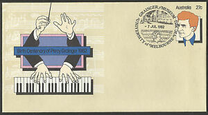 AUSTRALIA 1982 PERCY GRAINGER Composer MUSIC PSE Pre Stamped MELBOURNE First Day