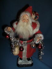 """Santa Christmas Candy Container 14""""Tall Garland,Basket of Toys,Horse,Fire Wood"""