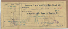 Bangor & Aroostook  Railway Co. no protest  check Dec.12, 1914