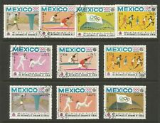 YEMEN--1968 Mexico Summer Olympics--Used/CTO-F-VF stamps/ss