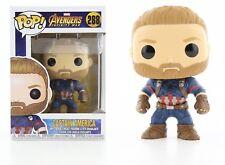 Funko Pop Marvel Avengers Infinity War: Captain America Bobble-Head Item #26466