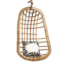 Two's Company Hanging Rattan Chair (includes hanging rope & clamp)
