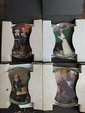 4 Norman Rockwell Plates Boxes Coas Bradford Exchange - American Dream Excellent