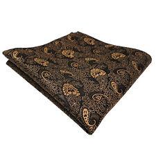 schönes TigerTie Einstecktuch gold bronze schwarz Paisley - Tuch Polyester