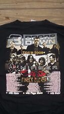 Large 3 Doors Down Hinder Staind Finger 11 Tour T-Shirt Concert Rock Roll three
