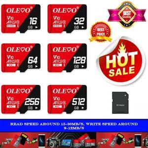 Micro SD Card 16GB 32GB 64GB 128GB 256GB Class 10 TF for Phones & Tablets Lot
