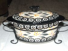 Temp-tations Mini Covered Oval Casserole Baker - Old World Black