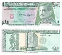 Guatemala 1 Quetzal 1992 P-73c Banknotes UNC