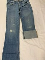 abercrombie fitch Women's Jeans Distressed Destroyed Size 0 NWT Vintage