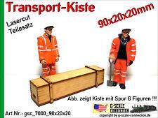 Spur G Lasercut 2x Transport Kiste 90x20x20mm aus Holz für z.B. LGB PIKO G