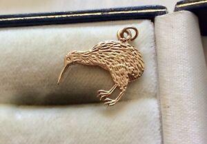 Lovely Unusual Stamped Vintage 10 Carat Gold 10K Kiwi Bird