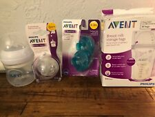 Philips Avent Anti-colic Wide-Neck Baby Bottle 4oz + 2 Soothies 2 0m+ 2 Nips L94