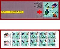 France 1992 carnet Croix Rouge ** MNH. illustration de l'entraide, non-plié