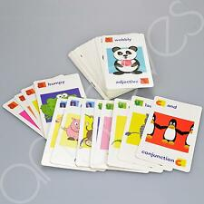 Childrens Sentence Picture And Grammar Flash Cards Word Verb Noun Adjective Lear