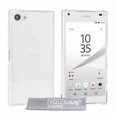 Yousave Accessories Sony Xperia Z5 Compact Crystal Clear Hard TELEPHONO CASE COVER