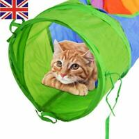 Pet Cat Tunnel Toy Folding Collapsible Tunnel Kitten Dog Rabbit Play Toys New !