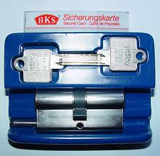 BKS Profilzylinder 31/31 NEU mit 4 Schlüssel Sperrschließung mit Sicherungskarte