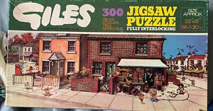 GILES DAILY EXPRESS 300 PIECE JIGSAW - 1976 Jigsaw Puzzle The corner shop