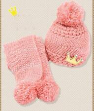 Newborn Baby Kids Girl Boy Winter Warm Wool Knitted Crochet Scarf Cap Beanie Hat