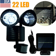22 LED Solar Powered Motion Sensor PIR Security Light Garden Garage Outdoor BP