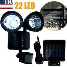 22 LED Solar Powered Motion Sensor PIR Security Light Garden Garage Outdoor TN