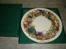 New Lenox Colonial Christmas Wreath Plate 1989 New York With Box