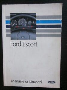 FORD Escort 1.1-1.3-1.4-1.6-1.8D-RS 2000 MK5 manuale uso manutenzione istruzioni